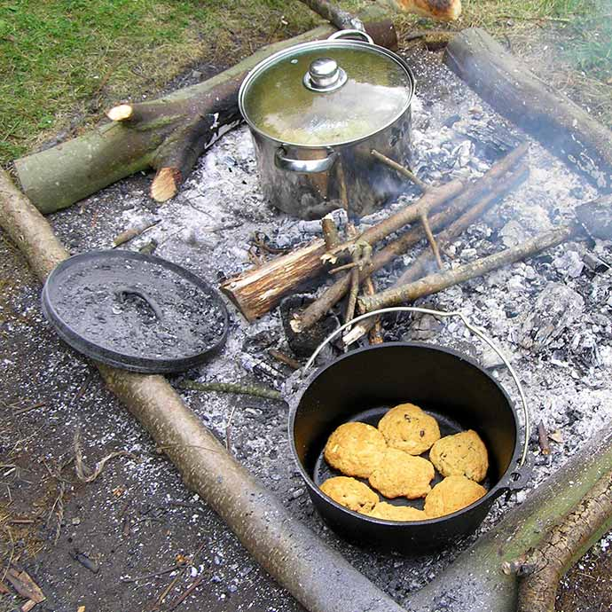Forest School Projects - camp fire cooking