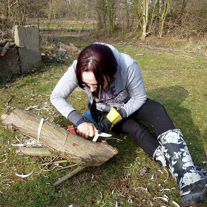 Forest School Training - wood carving