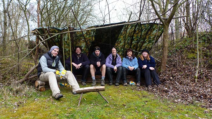 Urban Outdoor Learning - group shelter